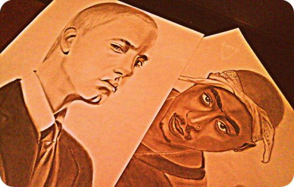Tupac, Eminem par yamilaalmara